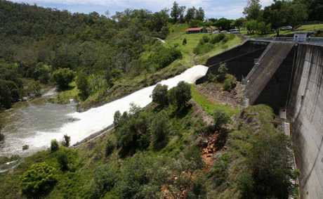 625mm had fallen on Moogerah Dam in the previous 48 hours.