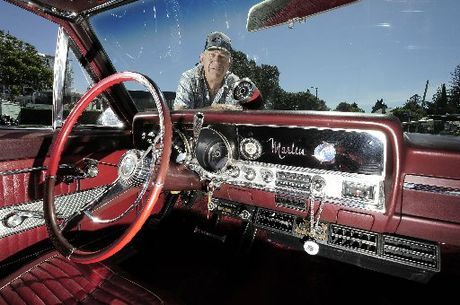 CRAZY FOR CLASSICS: Mark Spackman believes his 1965 Rambler Marlin Fastback is the only one of its type on New Zealand's roads.