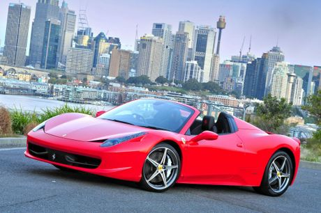 The Ferrari 458 Spider. 