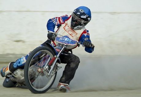 GOING HARD: Aucklander Sean Mason during one of the heats at Meeanee on Saturday night and pictured afterwards.