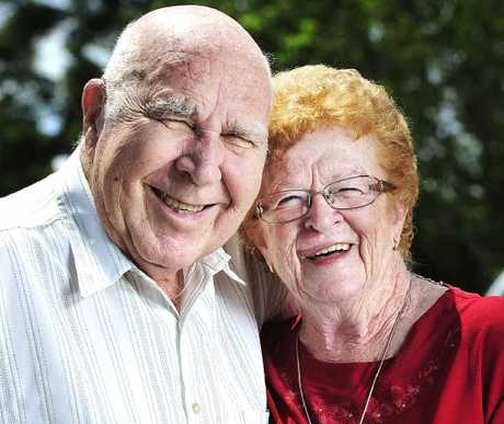 DIAMOND ANNIVERSARY: Raceview couple Arthur and Carmel Bracey celebrate their 60th wedding anniversary.