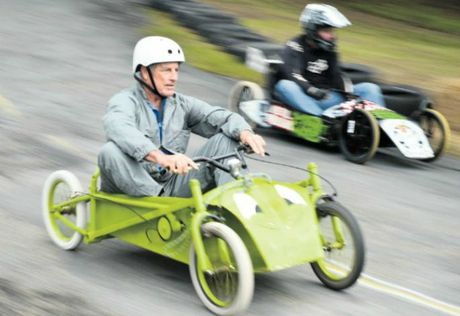 Their skills were greatly tested, as carts gathered significant speed as they raced down the hill at Maclean Showground.