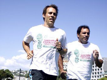 MARATHON: Greig Rightford (left) and William Tokona are training for five marathons in five cities in five days, which will include Rotorua.