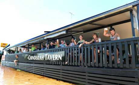 Locals enjoying a drink at Chinderah Tavern - the pub with beer.