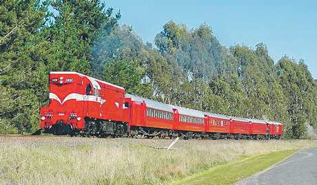 NO BURNING COAL: The 55-year-old diesel locomotive that looks set to take the place of the regular Art Deco steamer, which does not meet the terms of the current total fire ban.