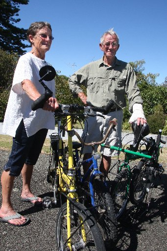 RECOVERED: Sue and Vince McBride are glad to have their treasured bikes back. PHOTO/BEVAN CONLEY