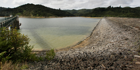 The Upper Mangatawhiri Dam in the Hunua Ranges.