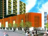 Units in a planned 14-level New Lynn apartment block are selling for well under Auckland's average.
