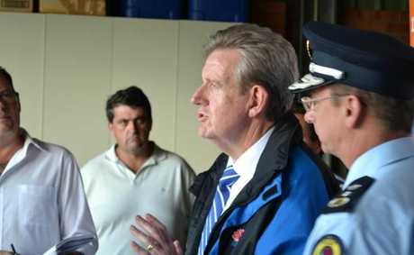 The Premier at the Clarence Valley flood media conference.