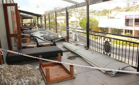 Part of the roof at Coolangatta Sands Hotel was ripped off in the wild weather on the Australia Day long weekend.