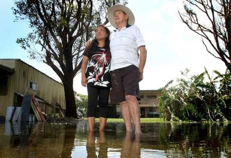 Kevin and Rose Martin of Cudgen trying to laugh off flood damage