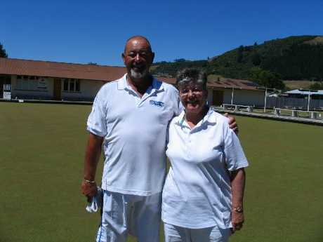 Bowls Bay of Plenty Mixed Pairs Champions for 2012-2013, Dean Worrall and Raewyn Willis. Photo / Supplied