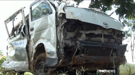 The minibus that crashed in Kenya on 15 January, killing 3 people from the Bay of Plenty.