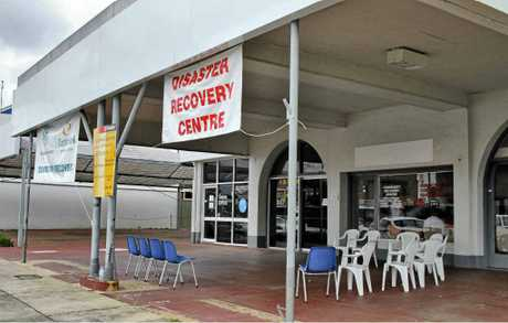 HELP IS AT HAND: The community recovery centre set up in the 2011 floods in Prince St, Grafton. Photo: JoJo Newby