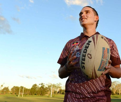 BIG MATCH: Adrian Elder has been picked in the Queensland under-16 Indigenous All Stars rugby league team.