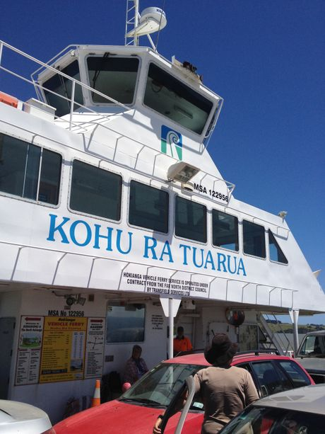 HANDY: The Hokianga Harbour ferry Kohu Ra Tuarua, whose crew might well have saved two lives on Tuesday.