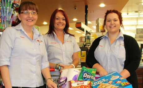 Tracy Smith, Charmain Doran and Tegan Freeman from Supa IGA Warwick.