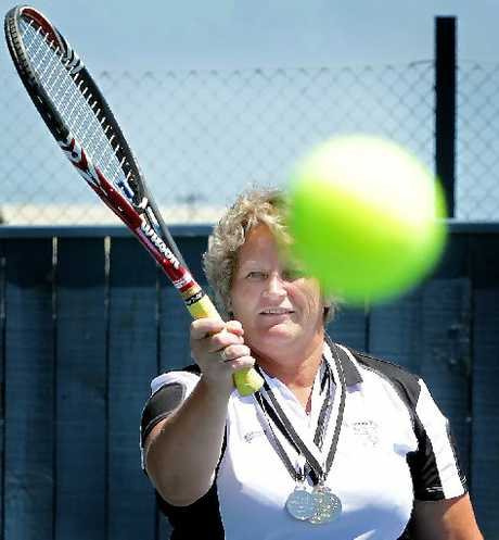 COURTING GLORY: Ohakune tennis ace Karen Cranston is off to take on the world in Turkey next month. PHOTO/STUART MUNRO