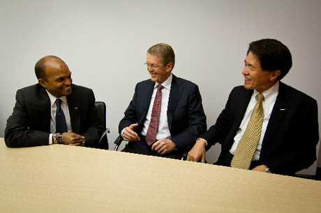 Ford's Raj Nair, Daimler's Thomas Weber and Nissan's Mitsuhiko Yamashita are working together on the FCEV.