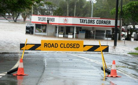 Iconic Murwillumbah business Taylor's Corner has been swamped with flood water.
