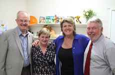Patron of the Daniel Morcombe Foundation Bob Atkinson, Denise Morcombe of the Daniel Morcombe Foundation, Bravehearts executive director Hetty Johnston and Bruce Morcombe of the Daniel Morcombe Foundation unite.