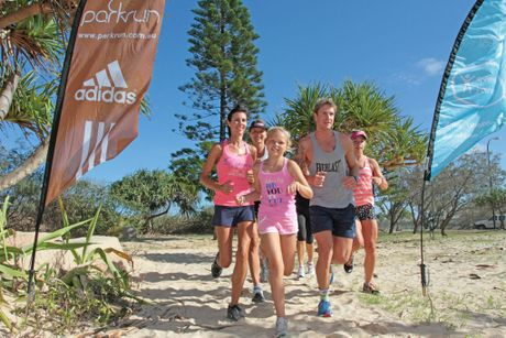 The Kawana park run group meets every Saturday at 7am in front of the Kawana SLSC. Photo: Darryn Smith