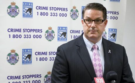 Detective Inspector Regional Crime Coordinator Darrin Shadlow at press conference in relation to homicide investigation after a 32-year-old Toowoomba man died from a knife wound, Friday, February 01, 2013. Photo Kevin Farmer / The Chronicle
