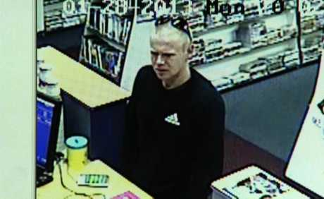 A CCTV image of the man police want to speak to.