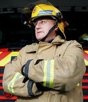 Tauranga fire safety officer Ken McKeagg retires from the service.