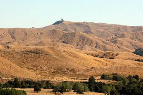 SCORCHED EARTH: The view from Bennett&#39;s Hill, near Masterton, shows farming land rapidly drying out.