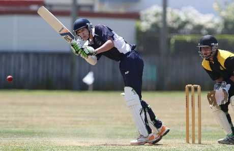 Gareth Wallace of Tauranga Boys' College plays a shot during last week's Williams Cup match against Greerton. Photo / Joel Ford