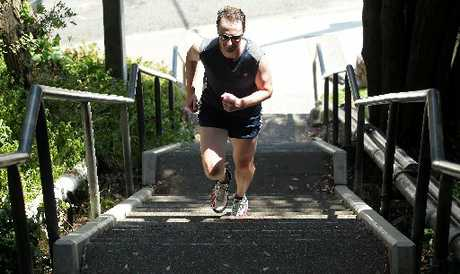MOUNTAIN GOAT: Self proclaimed mad-Welshman Kerry Bennett is one Wanganui local who cannot wait for the stair climb up Durie Hill for the Masters Games. PHOTO/STUART MUNRO
