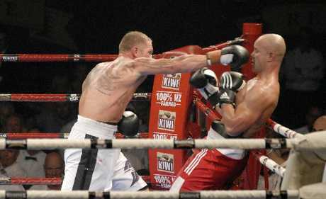 BATTLE: The Shane Cameron v Monty Betham Fight for Life event in December 2011 was the catalyst for a Christchurch liquor store manager being sacked.