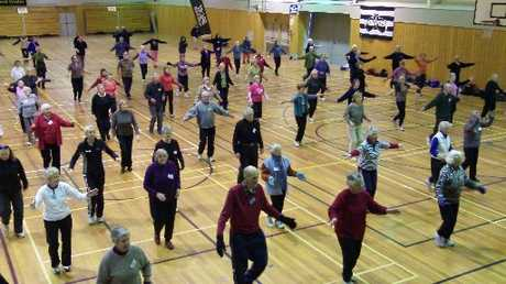 Elderly people are being encouraged to stay active.
