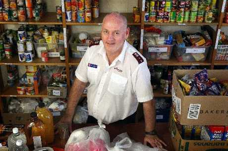 NEEDING HELP: Captain Brian Martin of Rotorua's Salvation Army in the organisation's local foodbank.