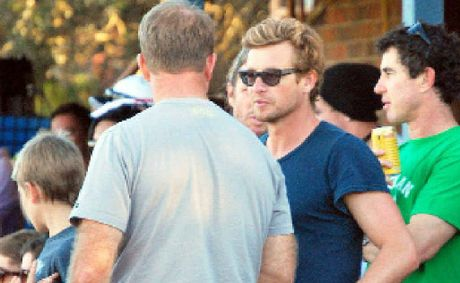 BEING FAMOUS: Simon Baker at Williams Reserve in Lennox Head in 2011 during a game of rugby between Lennox and Casino.