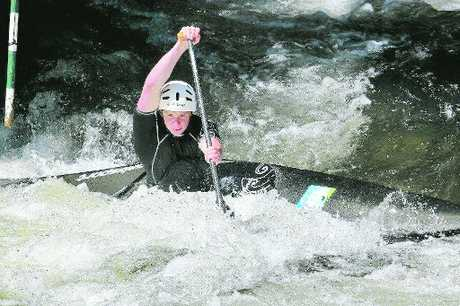 WHITE WATER: Canoeist Ben Gibb, who trains in Rotorua, is hoping for a big performance at this weekend's Oceania champs at Mangahao.