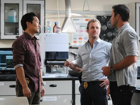 Daniel Dae Kim, Scott Caan and Alex O'Loughlin in the episode titled 'Kapu'.