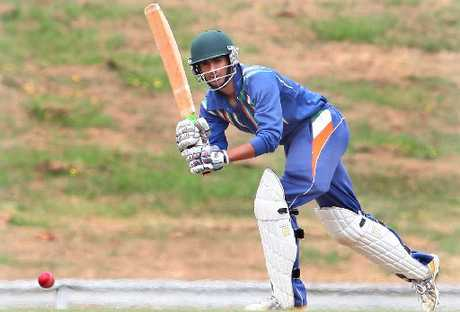CLASS: Rotorua-based Bay of Plenty Indians batsman Bharat Popli batting against Tauranga Boys' College at Smallbone Park on Saturday.