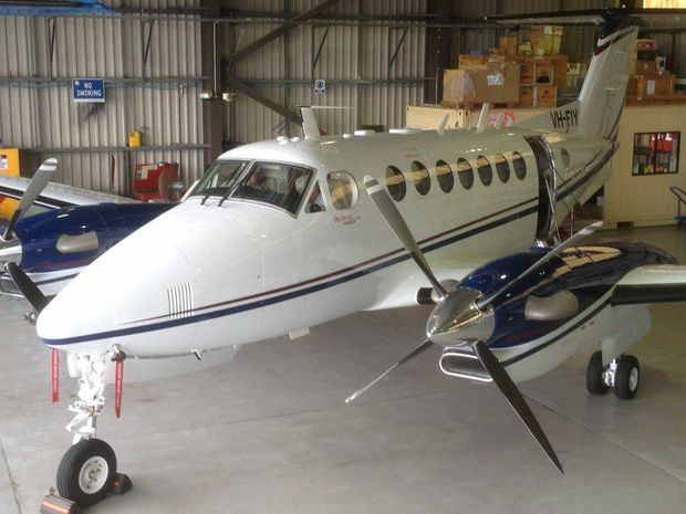 One of two Beechcraft King Air 350i aircraft purchased as part of the AeroPearl contract.