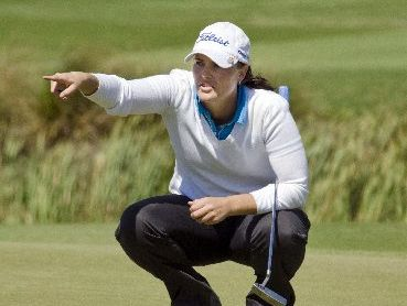 CAREER BEST: Caroline Bon is heading toward her top professional finish.