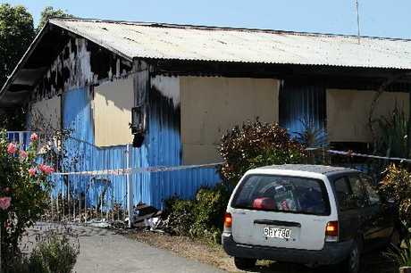 GUTTED: Members of an extended family escaped injury but their house was destroyed by fire in Flaxmere on Saturday.