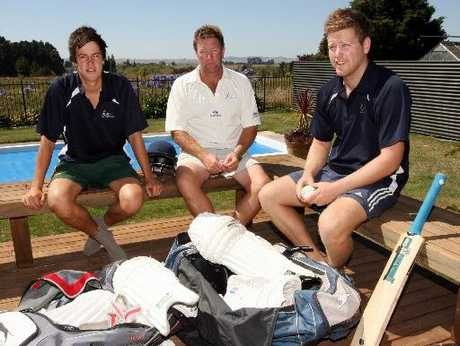 Angus Schaw, Central Hawke's Bay Cricket Coach Colin Schaw, Scott Schaw pictured at home before they head off to Palmerston North this weekend to qualify for New Zealand Club Cricket Champs in Auckland.