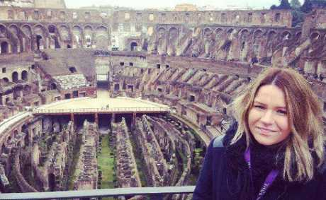 ROME-ING ABOUT: Breanna checks out the Colosseum in Rome.