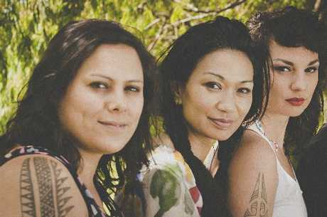 PUMPING: Anika Moa (left) Boh Runga and Hollie Smith.