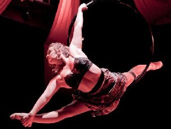 TALENTED: Acrobat Emma Phillips.