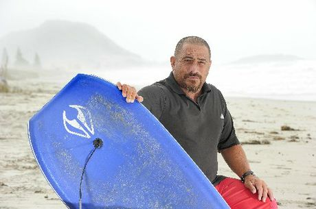 RESCUER: Terry Smith fought the sea for 30 minutes to save a boy struggling off Arataki Beach.