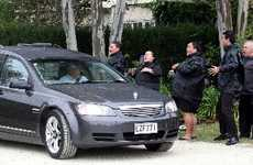 Ngati Kahungungu performed a haka while the hearse progressed slowly along  the driveway.