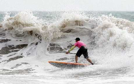 WAVE RIDER: Christchurch's Shayne Baxter won the men's stand up paddleboard division.