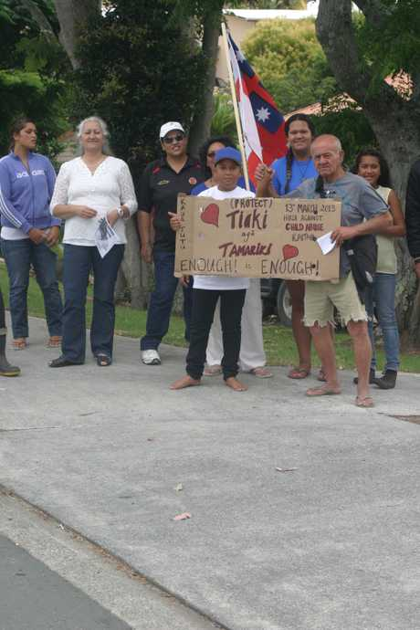 SUPPORT: Last week's silent protest outside the Kaitaia District Court wasn't big but it was a show of support for the victims of sexual abuse and their whanau that will continue over coming weeks and months.